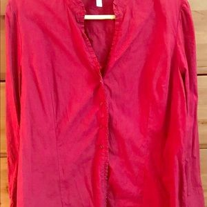 Red XL long sleeve blouse